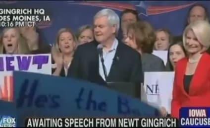 Newt Gingrich Praises Rick Santorum; Mitt Romney Not So Much