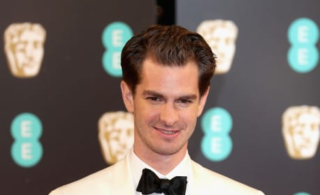 Andrew Garfield at the BAFTAs