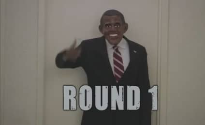 Barack Obama vs. Mitt Romney: Battle of the Halloween Masks!