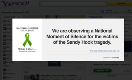 Websites Go Dark: Sandy Hook Moment of Silence Honors Victims, Calls For Action