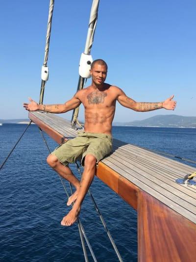 Jeremy Meeks on a Boat