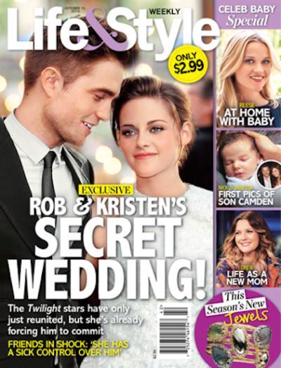 Robert Pattinson and Kristen Stewart Tabloid Claim