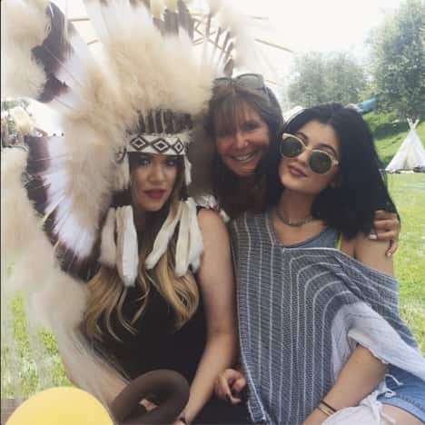 Khloe Kardashian as a Native American