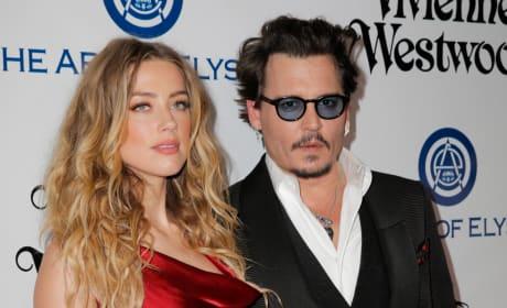 Johnny Depp and Amber Heard Photo