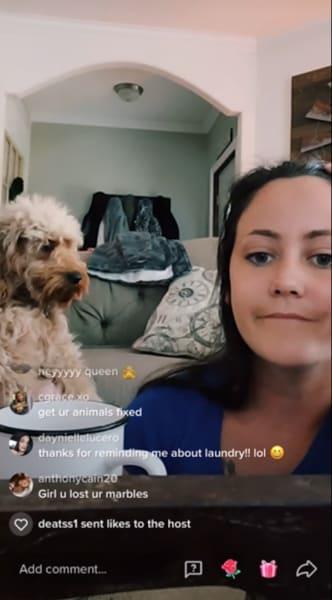 Jenelle's dog pregnancy reveal