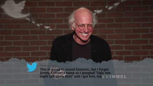 Kimmel Mean Tweets - Larry David