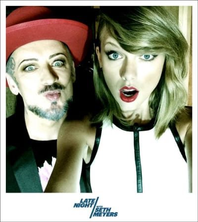 Taylor Swift and Boy George Selfie