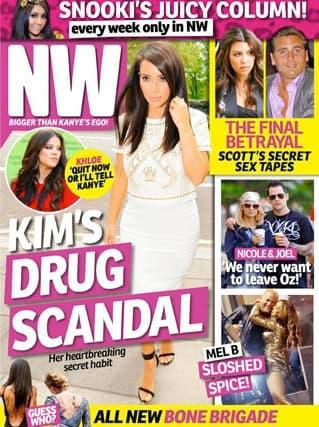 Kim Kardashian Pill Popping Cover