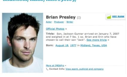 Brian Presley, Married Actor, Hits on Model; Melissa Stetten Live Tweets Adultery Attempt