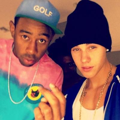 Justin Bieber at Kanye Party
