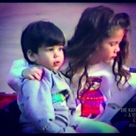 Khloe Kardashian and Rob Kardashian as Kids