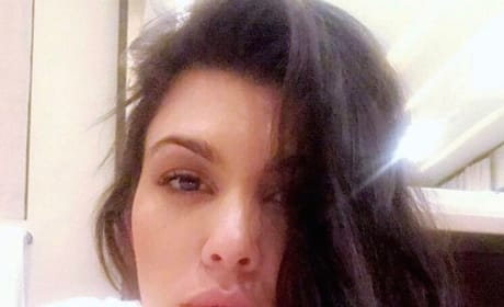 Kourtney No Makeup Selfie