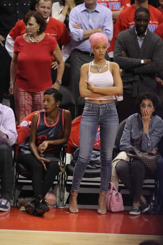 Rihanna Basketball Game Photo