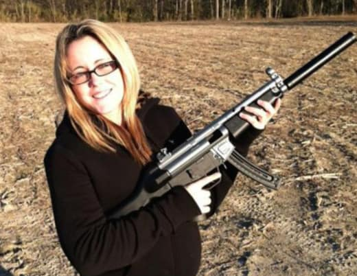 Jenelle Eason Gun Photo