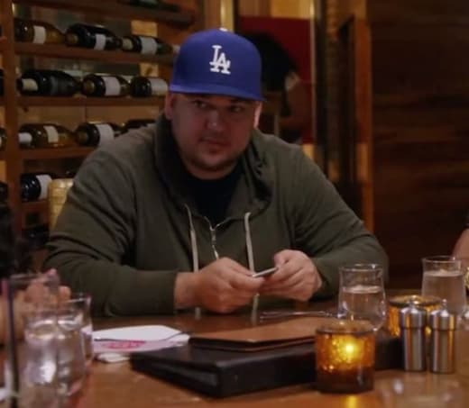 Rob Kardashian at Dinner