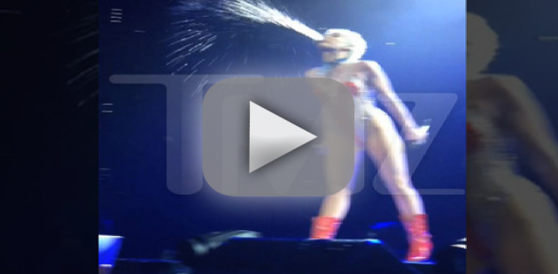Miley Cyrus Spits on Audience