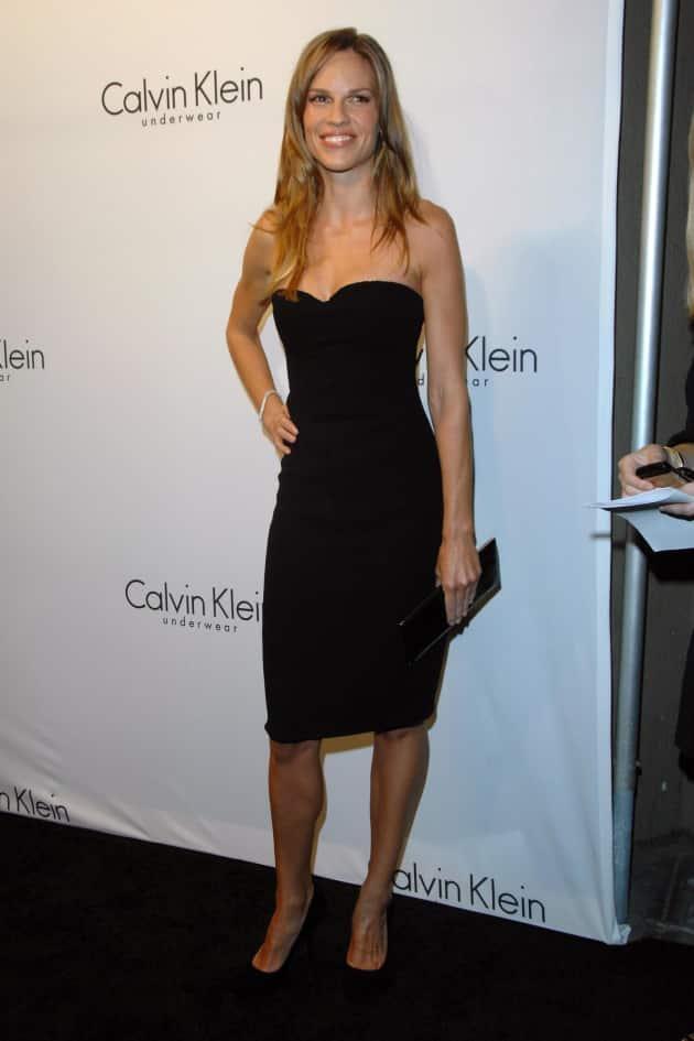 Hilary Swank Little Black Dress