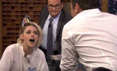Kristen Stewart Plays Jell-O Shot Twister, Nearly Flashes Millions