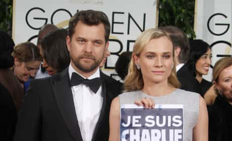 Diane Kruger and Joshua Jackson at the Golden Globes