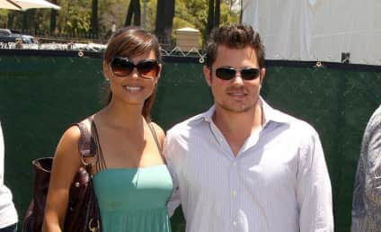 Giant Nick Lachey Towers Over Vanessa Minnillo