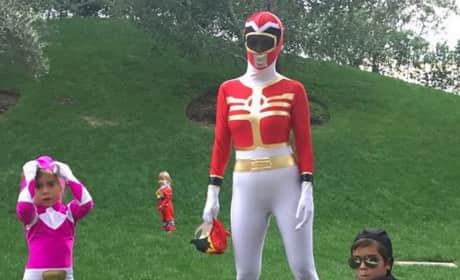 Kourtney Kardashian as a Power Ranger