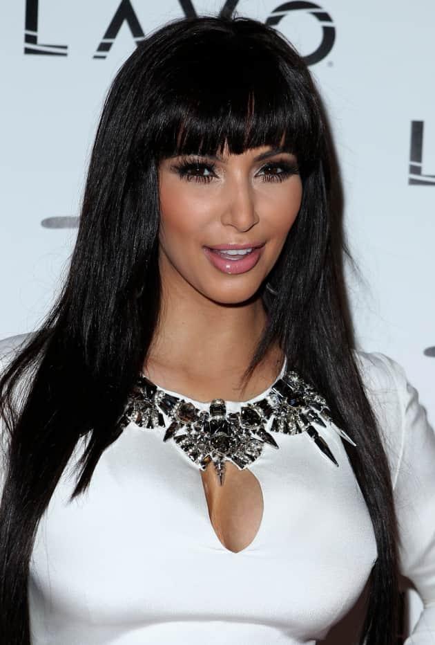Kim Kardashian Bangs Or Bun The Hollywood Gossip