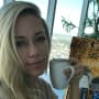 Kendra Wilkinson with Coffee