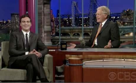 David Letterman and Joaquin Phoenix Reunite