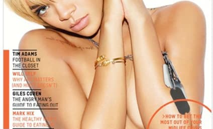 Rihanna Poses Topless in Esquire, Gets Pissed at Chris Brown Questions