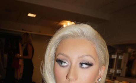 Christina Aguilera's New Blonde Hair