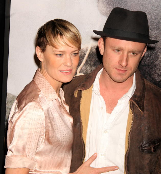Ben Foster and Robin Wright