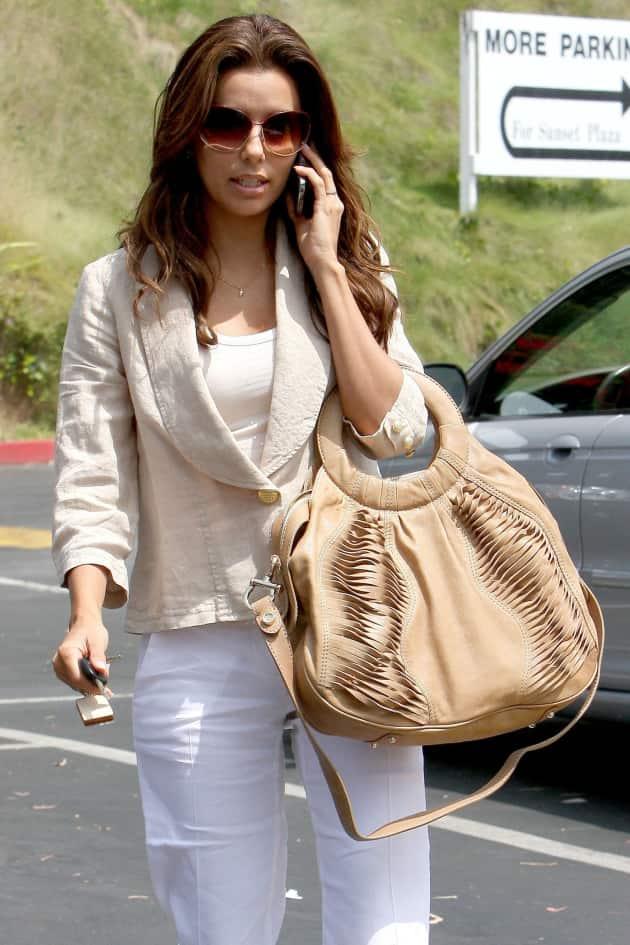 Eva Longoria Long Hair On The Phone