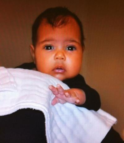 Kim Kardashian Baby Photo