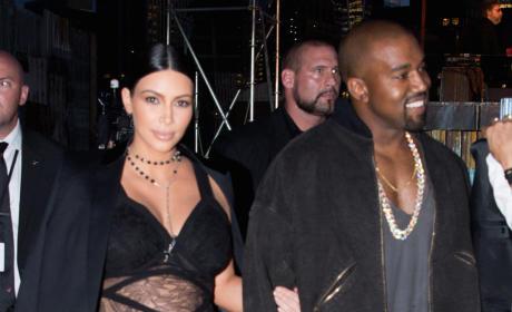 Pregnant Kim Kardashian and Kanye