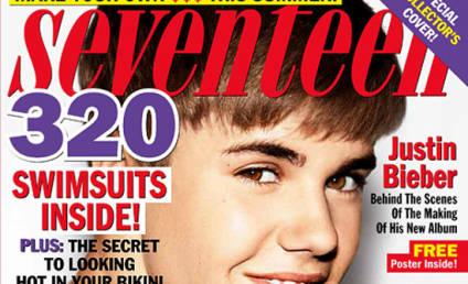 Justin Bieber Covers Seventeen, Loves Selena Gomez