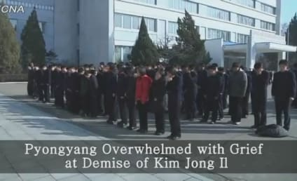 """North Korea Releases Fake """"News"""" Footage of People Supposedly Mourning Kim Jong Il"""