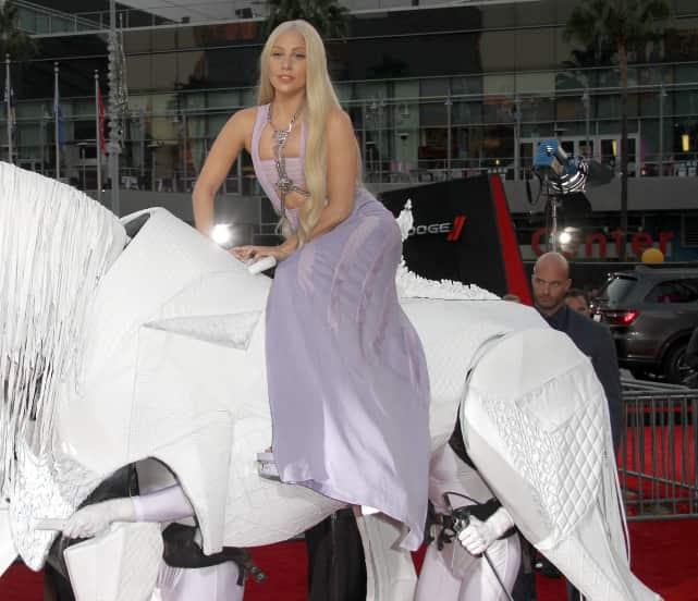 Lady Gaga on a Horse