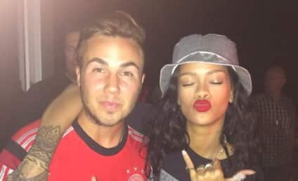 Rihanna Parties With German Soccer Team! Stuns in Brazilian Bikini Photo!