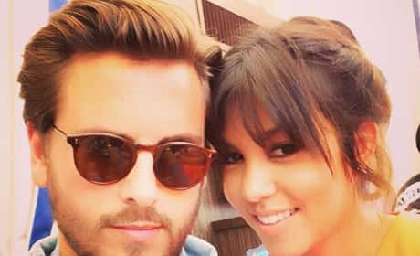 Kourtney Kardashian and Scott Disick Instagram