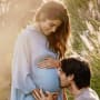 Nikki Reed and Ian Somerhalder, Baby Bump Kiss