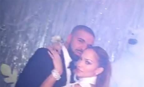 Drake and Jennifer Lopez at the Prom