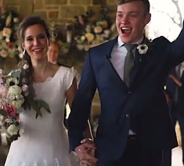 Justin Duggar Shares Wedding Video, Kisses Claire Spivey for the First Time.jpg