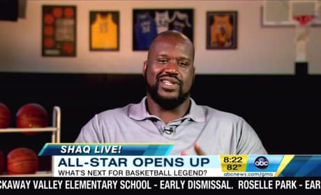 Shaquille O'Neal Retirement Photo