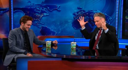Robert Pattinson and Jon Stewart