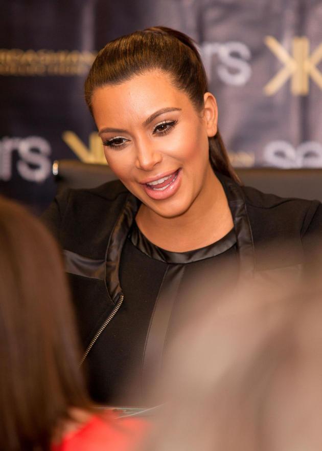 Kim Kardashian at an Autograph Signing