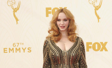 Christina Hendricks at the 2015 Emmys