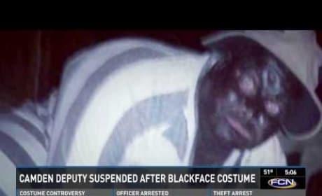 Chad Palmer, Deputy Sheriff, in Blackface