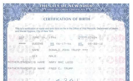 Donald Trump Birth Certificate