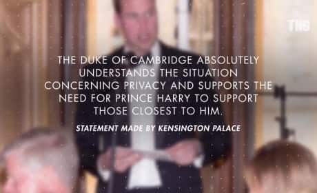 Prince William Backs Prince Harry and Meghan Markle