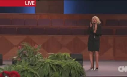"Christina Aguilera Covers ""At Last"" at Etta James Funeral"